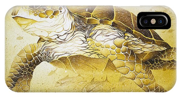 Golden Loggerhead IPhone Case