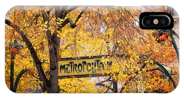 Paris Metro iPhone Case - Golden Metropolitain  by Delphimages Photo Creations