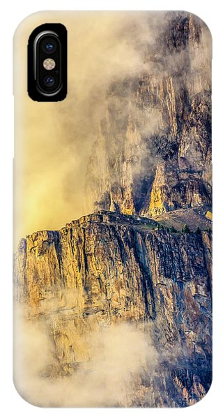 Golden Mist On Cathedral Mountain IPhone Case