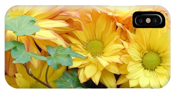 Golden Mums And Ivy IPhone Case