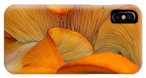Golden Mushroom Abstract IPhone Case