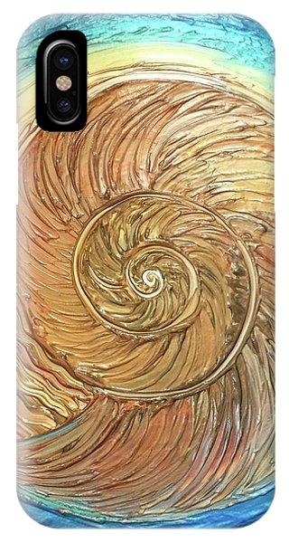 Golden Nautilus IPhone Case