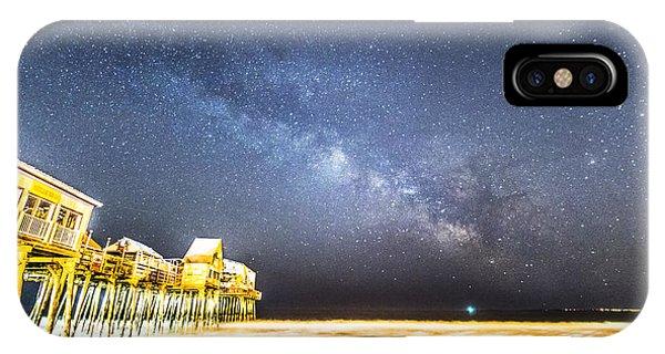 Golden Pier Under The Milky Way Version 1.0 IPhone Case
