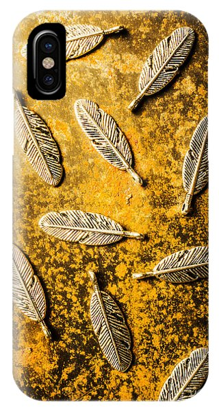 Plumes iPhone Case - Golden Plumage by Jorgo Photography - Wall Art Gallery