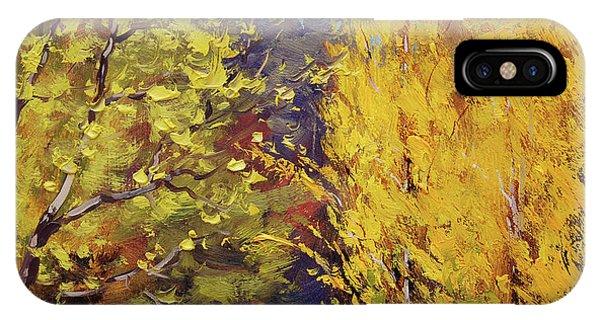 Golden Poplars IPhone Case