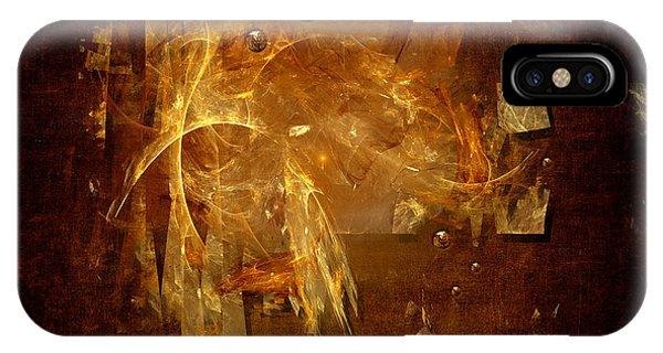 IPhone Case featuring the digital art Golden Rain by Alexa Szlavics