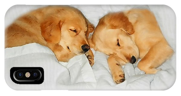 Golden Retriever Dog Puppies Sleeping IPhone Case