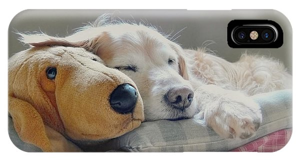 Golden Retriever Dog Sleeping With My Friend IPhone Case