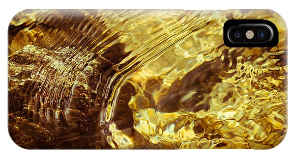 Golden Ripples IPhone Case