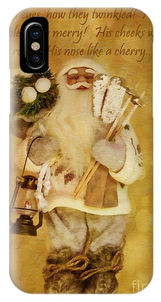 Golden Santa Card 2015 IPhone Case