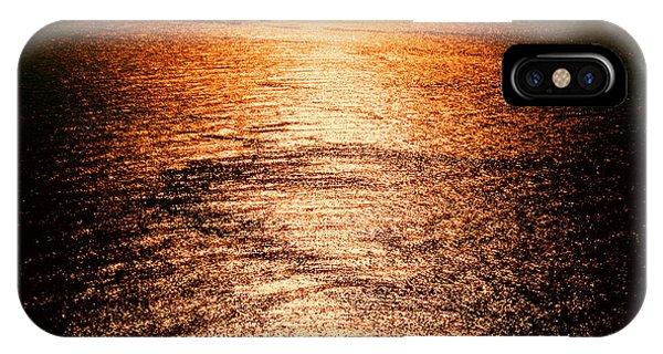 Golden Sea In Alanya IPhone Case