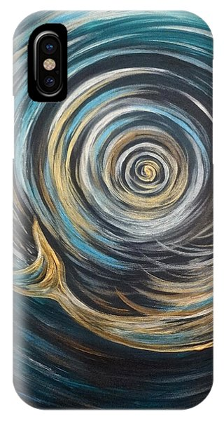 Golden Sirena Mermaid Spiral IPhone Case