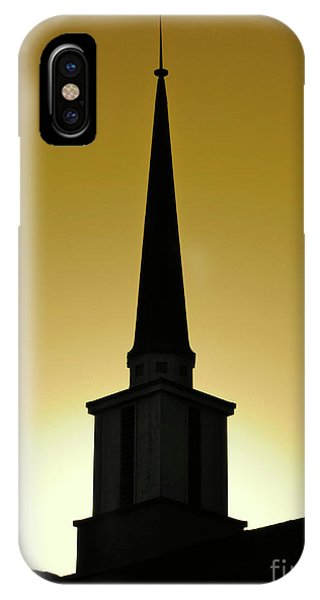 Golden Sky Steeple IPhone Case