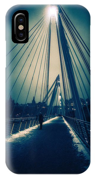 Golden Snow IPhone Case