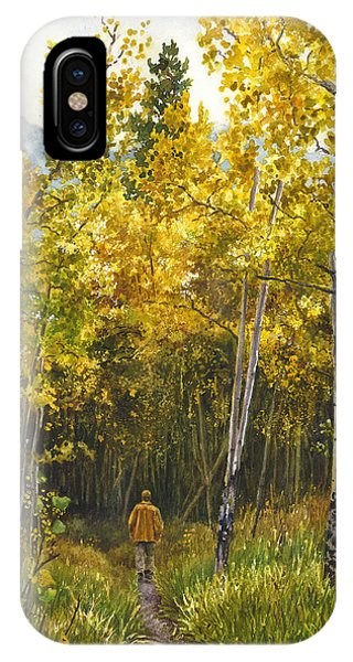 Golden Solitude IPhone Case