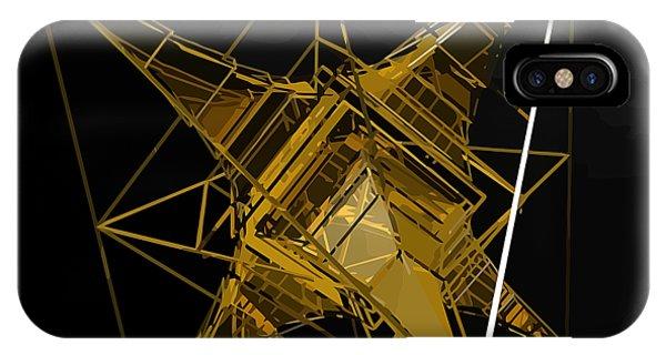 Golden Space Craft IPhone Case