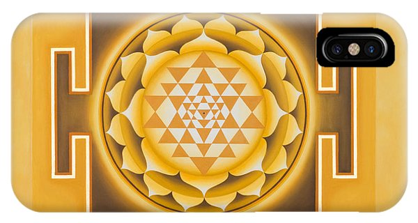Golden Sri Yantra - The Original IPhone Case