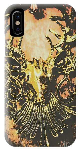 Necklace iPhone Case - Golden Stag by Jorgo Photography - Wall Art Gallery