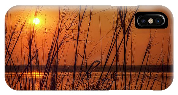 Golden Sunset At The Lake IPhone Case
