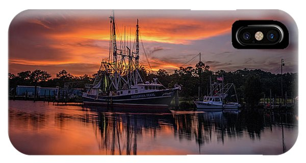 Golden Sunset On The Bayou IPhone Case