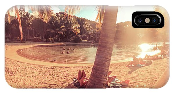 Sunbather iPhone Case - Golden Sunsets Of Airlie Beach by Az Jackson