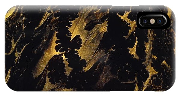 Golden Swirls IPhone Case