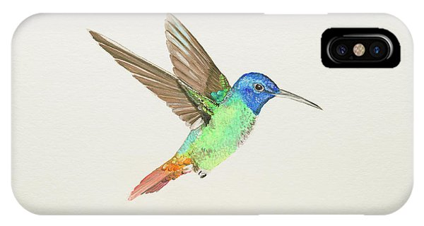 Golden-tailed Sapphire IPhone Case