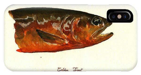 Trout iPhone Case - Golden Trout  by Juan  Bosco