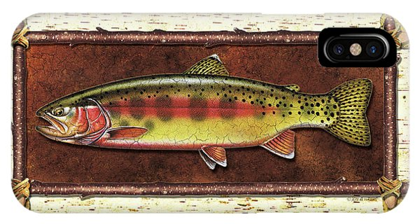 Trout iPhone Case - Golden Trout Lodge by JQ Licensing
