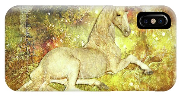 Golden Unicorn Dreams IPhone Case