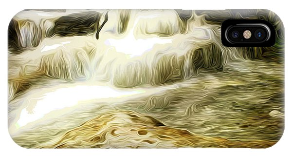 Golden Waterfall IPhone Case