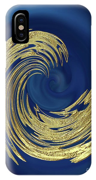 Golden Wave Abstract IPhone Case