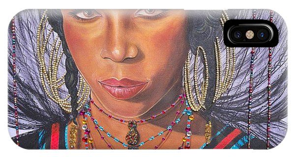 Gracious Golden Wodaabe Girl           From The Attitude Girls  IPhone Case