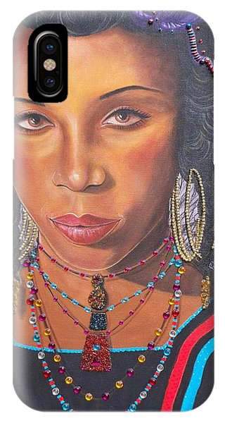Blue Cat Productions  Golden Wodaabe Girl IPhone Case
