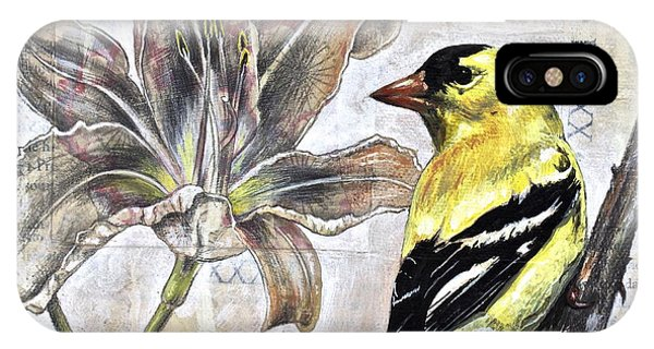 Goldfinch And Lily IPhone Case