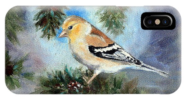 Goldfinch In A Tree IPhone Case