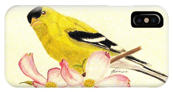 Goldfinch Spring IPhone Case