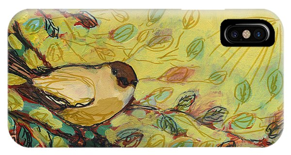 Impressionist iPhone Case - Goldfinch Waiting by Jennifer Lommers