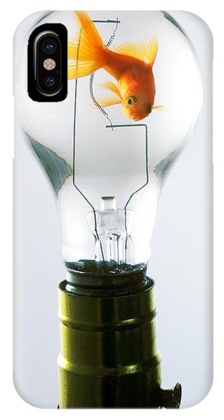 Golden iPhone Case - Goldfish In Light Bulb  by Garry Gay