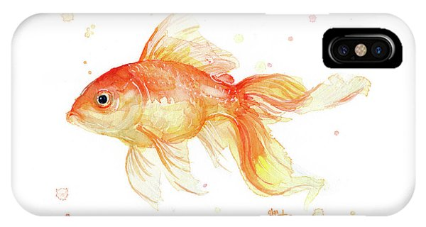 Goldfish Painting Watercolor IPhone Case