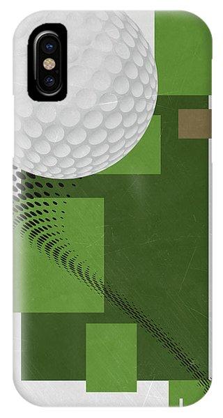 Golf Art Par 4 IPhone Case