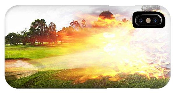 Fire Ball iPhone Case - Golf Ball On Fire by Jorgo Photography - Wall Art Gallery