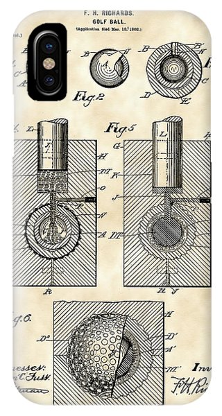 Golf Ball Patent 1902 - Vintage IPhone Case