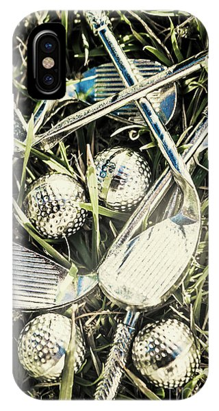 Golf Ball iPhone Case - Golf Chrome by Jorgo Photography - Wall Art Gallery