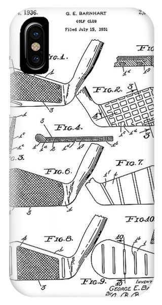Golf ball patent blueprint iphone cases fine art america golf ball patent blueprint iphone case golf club patent drawing white 3 by bekim art malvernweather Image collections