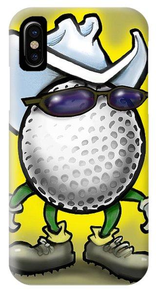 Golf Cowboy IPhone Case
