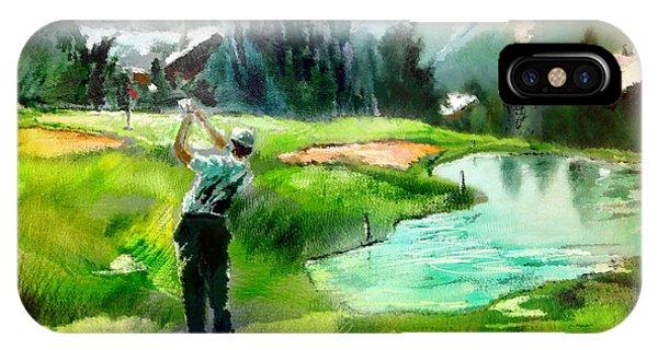 Golf In Crans Sur Sierre Switzerland 01 IPhone Case