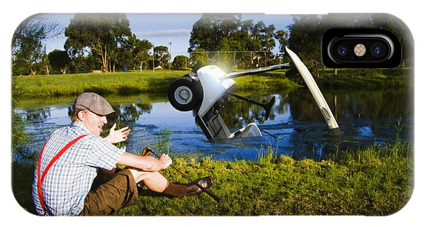 Drown iPhone Case - Golf Problem by Jorgo Photography - Wall Art Gallery
