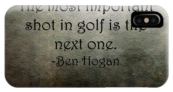 IPhone Case featuring the painting Golf Quote by Marian Palucci-Lonzetta