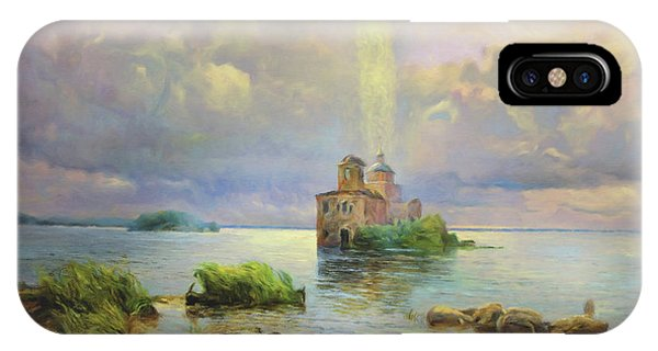 Modern iPhone Case - Golgotha Fantasy Impressionism by Georgiana Romanovna